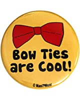 Nani?Wear 11th Doctor Geek 2.25 Inch Button: Bow Ties Are Cool