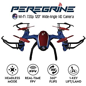 "U28W Mini HD Camera Drone - ""Peregrine"" 720p Camera Live Video Altitude Hold Outdoor Indoor Drone for Beginners with Wi-Fi FPV Quadcopter by Force1"
