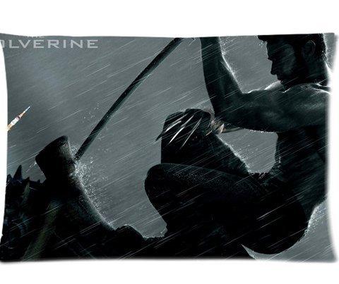 X Men Origins Wolverine Pillowcases Custom Pillow Case Cushion Cover 20 X 30 Inch Two Sides (Wolverine Xmen Bedding)