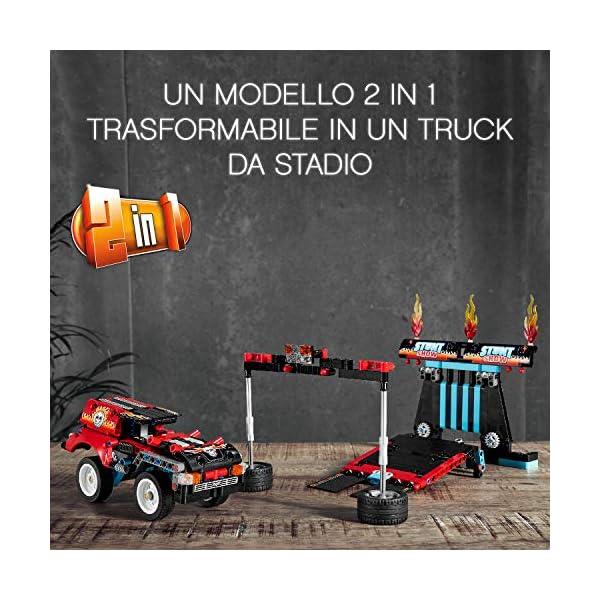 """LEGO Technic Truck e Moto dello Stunt Show, con Azione """"pull-Back"""", con 2 Modelli da Costruire ed Infinite Possibilità di Gioco, per Ragazzi +8 Anni, Appassionati e Collezionisti, 42106 5 spesavip"""