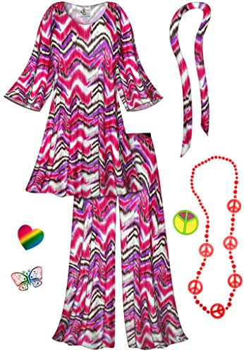 Pink  (Hippie Costumes Kit)
