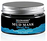 Neutriherbs Dead Sea Mud Facial, Body & Hair Mask 8.8 Oz | Natural Therapy For Deep Pore Cleansing, Acne & Blackhead Removal & Anti-Aging Treatment | Hydrating & Detoxifying Mask For Men & Women
