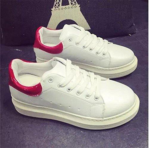 Lace Haute forme Sport Flat Up Mode De D'athlétisme Shoes Rouge Minetom Sneakers Femmes Plate Chaussures ISwxfyYqX