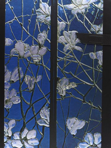 Tiffany Magnolias: Handstitched, Lined (Handstitched Tiffany Stained Glass) Tiffany Magnolia
