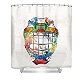 "Pixels Shower Curtain (74"" x 7"