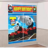 Thomas the Train Tank Engine ( Thomas & Friends ) Scene Setter Wall Decorations Kit - Kids Birthday and Party Supplies Decoration 2017