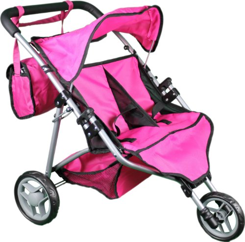 Doll Twin Stroller Baby Carriage - 5