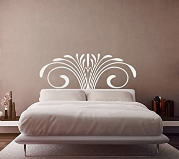 Queen/king Size Bed Romantic Flower Vine Headboard Bedroom Wall Decal Wall  Decals Home Wall