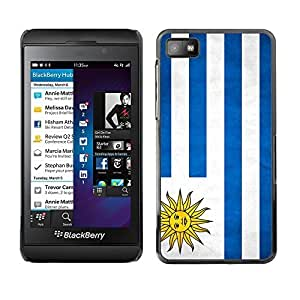 Shell-Star ( National Flag Series-Uruguay ) Snap On Hard Protective Case For BackBerry Z10