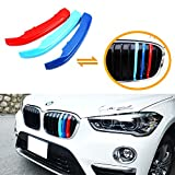 Automotive : iJDMTOY Exact Fit ///M-Colored Grille Insert Trims For 2016-up BMW X1 Sport Center Kidney Grilles (8 Beams)