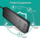 Willnorn 12-Outlets Power Strip Surge