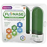 Flonase 24hr Allergy Relief Nasal Spray, Full Prescription Strength, 240 sprays (Twinpack of 120 sprays)