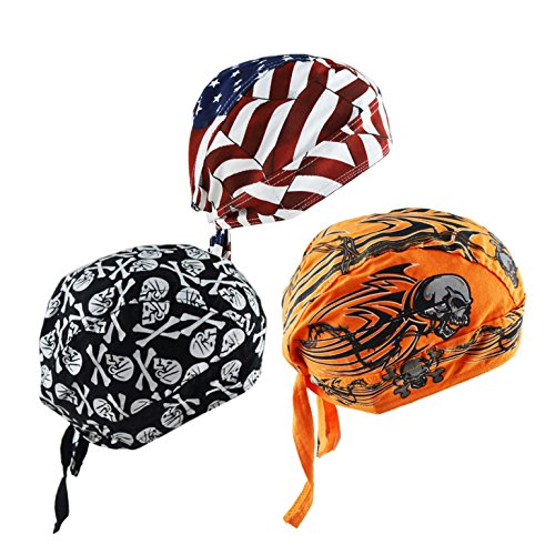 Rag Skull Cap Hat - Cycling Doo RAG Skull Cap Hat Bandana Head Wrap Breathable Helmet Liner