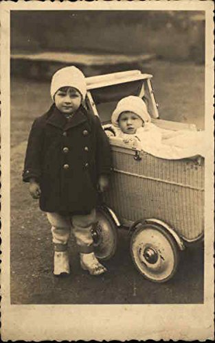 Antique Baby Stroller Wicker - 4