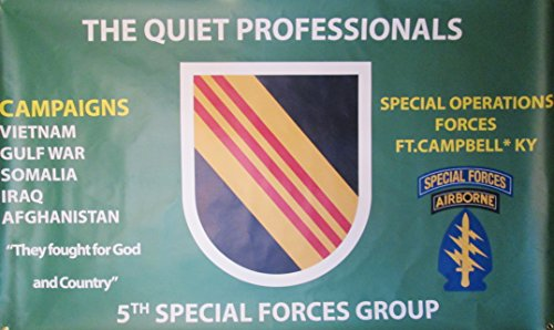 5TH SPECIAL FORCES GROUP 3'X5' 2PL POLYESTER 1-SIDED INDO...