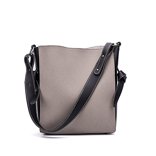 Simple Meaeo Square Black Gray Bucket Bag Bag Bag Shoulder Little Messenger YzwqYTr