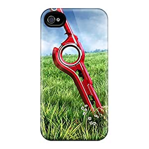 Scratch Resistant Hard Phone Cases For Apple Iphone 4/4s (xDh10892oGkN) Custom Colorful Xenoblade Chronicles Monado Skin