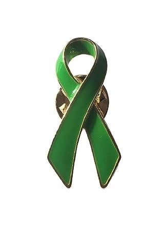 NEW Mental Health Awareness Green Ribbon Brooch Lapel Pin