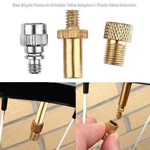Adaptador de Válvula de Bicicleta Presta a Schrader de Broadraure. Extensión de Válvula Presta. Broadroot