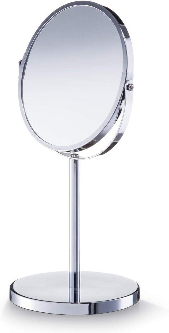 Metall verchromt Zeller 18410 Kosmetikspiegel /Ø 17; /Ø 15 x 35 cm ca 1x//3x