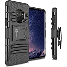 Galaxy S9 Holster Case - CoverON Explorer Series Heavy Duty Protective Hybrid Phone Cover with Kickstand and Belt Clip for Samsung Galaxy S9 - Black