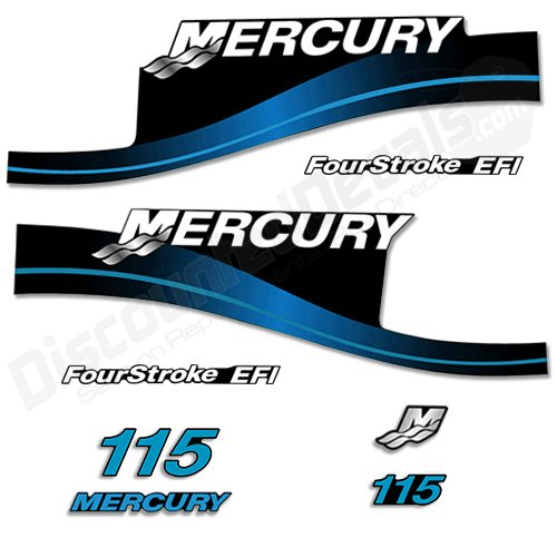 Mercury Outboard 115HP Decal Kit FourStroke EFI Decals St...