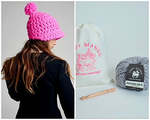 Loopy Mango DIY Kit - Polo Crochet Hat (Bubble Gum) by Loopy Mango