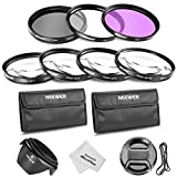 Neewer 58MM Professional Lens Filter and Close-up Macro Accessory Kit for CANON EOS Rebel T5i T4i T3i T3 T2i T1i XT XTi XSi SL1 DSLR Cameras - Includes Filter Kit (UV, CPL, FLD) + Macro Close-Up Set (+1, +2, +4, +10)+ Filter Carrying Pouch + Tulip Flower Lens Hood + Center Pinch Lens Cap with Cap Keeper Leash + Microfiber Cleaning Cloth