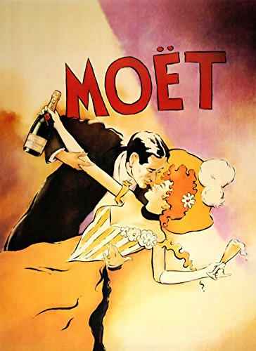 Heritage Posters Fashion Couple in Love Dance Dancing Moet Champagne France French 16quot X 22quot Image Size We Have Other