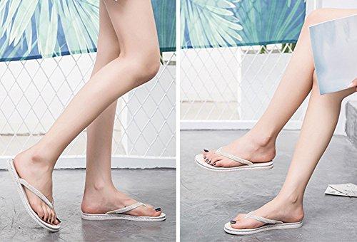 de Été Sandales Chaussons Plage Flops Bevalsa Respirante Flip Beige Bohême Tongs Femmes Pantoufles Chaussures Plateforme wWqFFHSIR8
