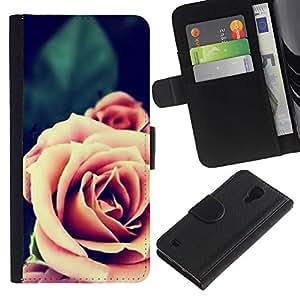TaiTech / - Rosa Naranja Primer plano Flor - Samsung Galaxy S4 IV I9500
