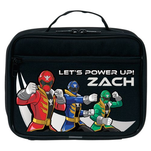 Power Rangers Power Up Black Lunch Bag