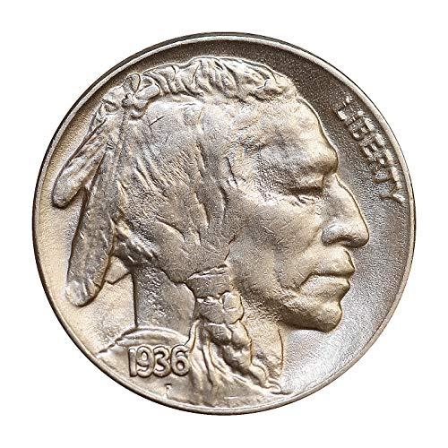 1936 S Buffalo Nickel - Gem BU/MS/UNC - High Grade Coin/Superb
