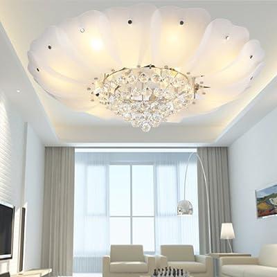LightInTheBox® Modern Flush Mount Crystal Traditional LED Pendant Chandelier Lighting Fixture For Living Room / Bedroom / Dining Room Metal