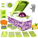Vegetable Chopper, ONSON Food Chopper Cutter Onion Slicer Dicer, 10 in 1 Veggie Slicer Manual...