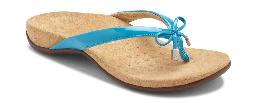 Vionic Women's Rest BellaII Toepost Sandal Blue 8M US
