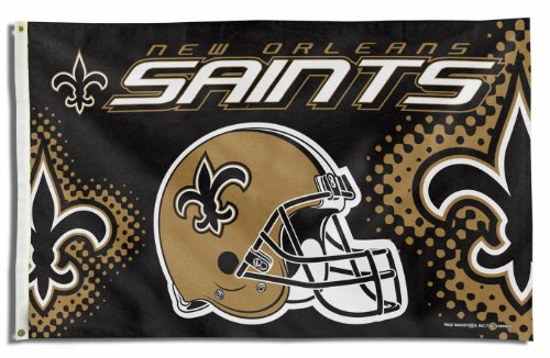 New Orleans Saints PV HELMET Rico 3x5 Flag w/grommets House