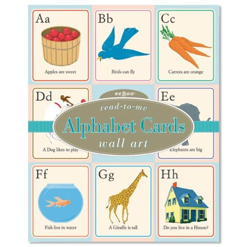 Read-to-Me Alphabet Wall Cards by (Eeboo Wall Cards)