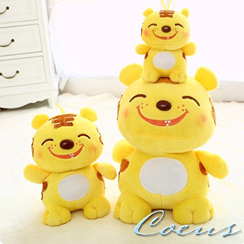 Coeus Toys Cute & Lovely Bedtime Plush Animal /Huge Plush Toy Soft Doll,the Best Gift for Kids/children/girlfriend, Soft Stuffed Plush Toy- A Smiling Tiger,15.7 Inch / 40 Cm