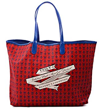 Jessica Kagan Cushman Shoulder Bag for Women - Polyester, Red and Blue