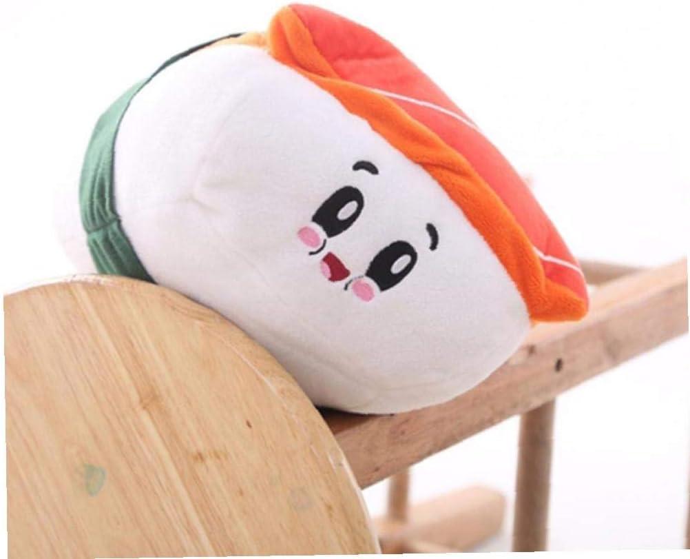 Saumon Aisoway Coton Coussin Alimentaire Sushi Mignon en Peluche Oreiller Literie D/écoration Chambre