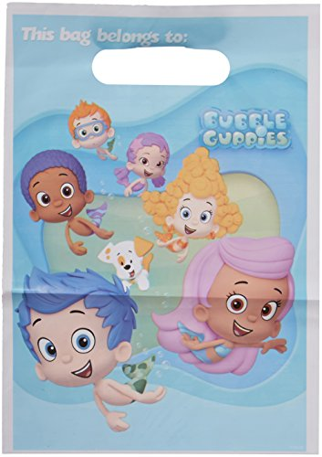 Amscan Fintastic Bubble Guppies Plastic Birthday Loot Bags Favour Toy & Prize Giveaway Childrens Party Supply Packs , 48 Pieces