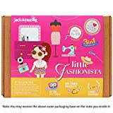 Art and Craft Felt Kit for Girls - Little Fashionista Themed 3 Crafts-in-1 DIY Gift for Girls Ages 7-10 (3-in-1)