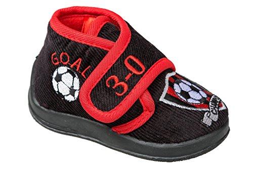 gibra - Zapatillas de estar por casa de tela para niño blanco / rojo