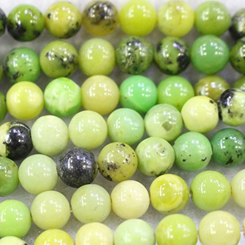 Natural Color Genuine Round Gemstone DIY Jewelry Making Loose Beads (8mm, Chrysoprase)
