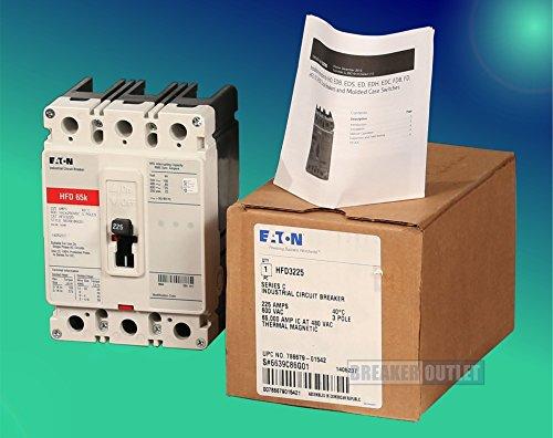 Phase 3 Cutler Hammer Hammer - New Cutler-Hammer HFD3225 Circuit Breaker 3 Poles 225A 600V 65k Rated Series C