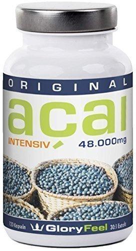 Gloryfeel Acai Beere Intensiv hochdosiert (30:1 Extrakt) und rein plus Vitamin C, 120 Kapseln, 1 er Pack (1x 69,7g)