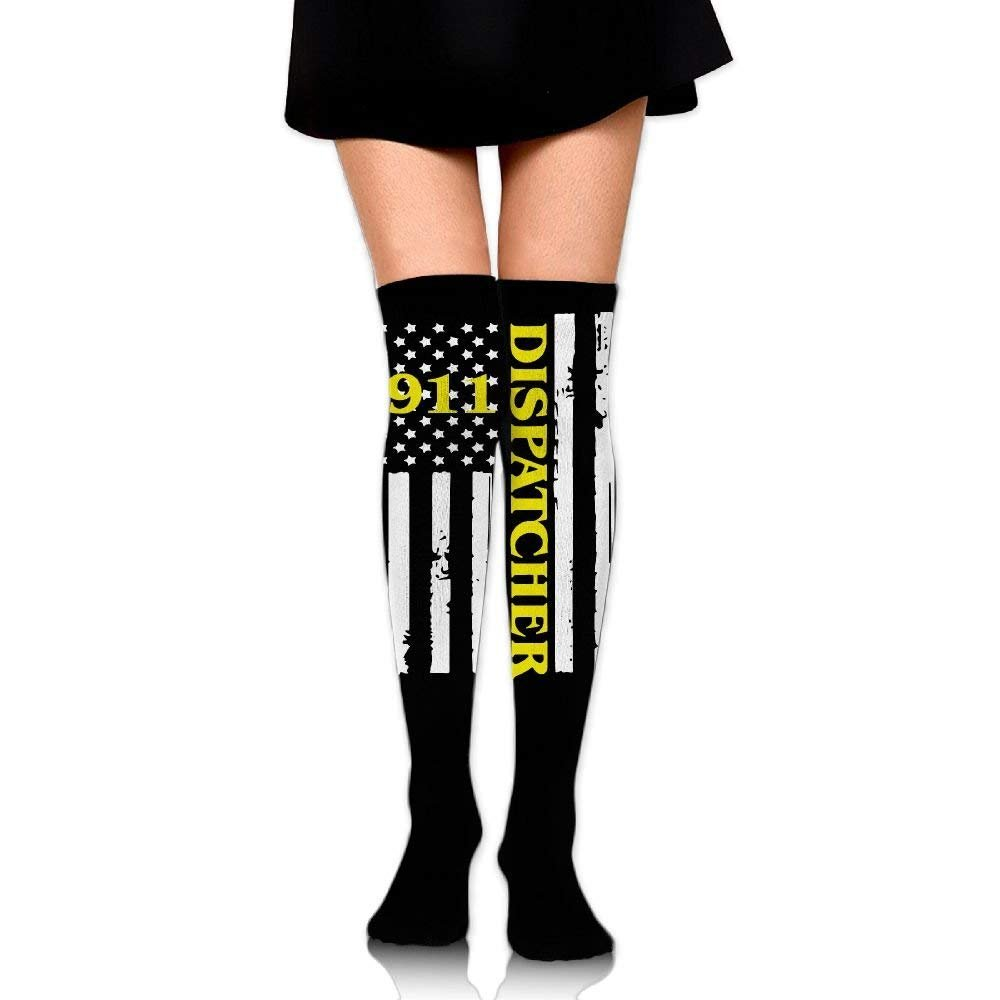 Funny Perfect Gifts Crew Stockings Compression Thigh 911 Dispatcher Thin Gold Line Fashion Sport Classic Knee High Long Socks One Size