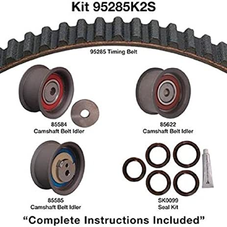 amazon com dayco timing belt kit 95285k2s automotive rh amazon com gates timing belt installation guide gates timing belt replacement guide pdf