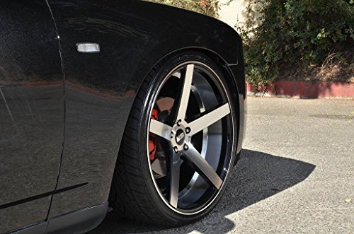 """20"""" Inch STR 607 Black Machine Wheels Rims Only 
